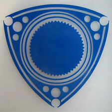 VINYL ROTOR DECAL STICKER ROTARY ENGINE RX7 RX2 RX8 REPU WANKEL POWER BLUE 2pcs