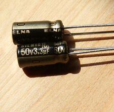 10pcs Japan ELNA 50V 3.3UF SILMIC II Series HIFI Audio Capacitor