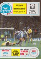 Football Programme>BRIGHTON & HOVE ALBION v NEWCASTLE UNITED Jan 1991