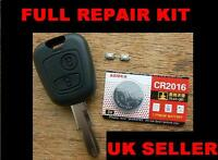 FOR PEUGEOT 106 206 307 REMOTE KEY FOB REPAIR KIT,  BATTERY AND MICRO SWITCHES