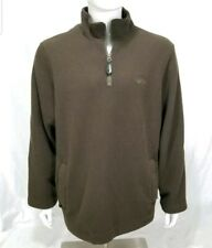 Alpha Industries Mens XL M-65 Hotchkiss Olive Pullover Fleece Jacket Elbo Patch