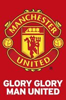 """GLORY GLORY MANCHESTER UNITED TEAM CREST POSTER 24'X36"""" OFFICIALLY LICENSED"""