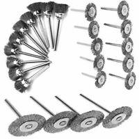 Stainless Steel Wire Brush Set For Dremel Rotary Tool die grinder flat wheel cup