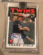 Frank Viola Topps Archives auto /81 2017 1986 card twins baseball