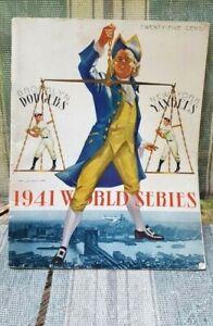 """Original"" ~ 1941 World Series Program ~""New York Yankees"" vs ""Brooklyn Dodgers"""