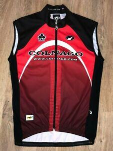 Colnago Parentini Red RARE cycling windtex windbreaker vest gilet jersey size L