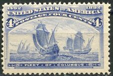 UNITED STATES 4c COLUMBIAN SCOTT#233  F/VF  NEVER HINGED--SCOTT VALUE $160.00
