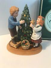 Vintage Avon Christmas Memories Keeping the Christmas Tradition Figurine 1982