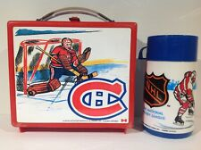 1970's MONTREAL CANADIENS NHL HOCKEY PLASTIC LUNCH BOX & THERMOS FROM CANADA