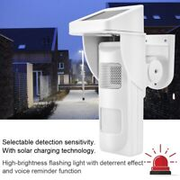 433MHZ Wireless Solar Sensor Detector Infrared Security Alarm System+Two remotes