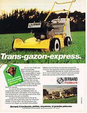 PUBLICITE ADVERTISING 094  1979  BERNARD moteurs  trans-gazon BM4 autotractée