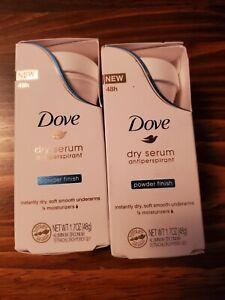 2Dove Dry Serum Roll On Antiperspirant Powder Finish  1.7 oz-Exp date 1/2021