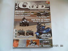 QUAD PASSION MAGAZINE N°132 06/2011 CFMOTO TERRAFOREST 500 GOES G 625I    I3