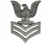 US Navy 1st Class Petty Officer Crow (left) (pewter) Hat or Lapel Pin H14456D98