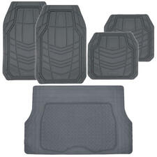 MotorTrend TransTech Rubber Car Floor Mats & Cargo Set HEAVY DUTY 5pc, Gray⭐⭐⭐⭐⭐
