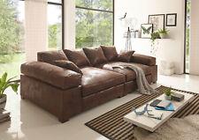 Big Sofa Vintage in verschiedenen Farben schwarz hellbraun dunkelbraun Megasofa