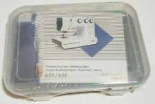 Bernette b33/b35 Sewing 10 Presser Foot Set in Storage Case w/Instructions - New