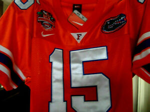 Florida Gators College Throwback #15 Tim Tebow Dual Patch STITCHED JERSEY 3XL