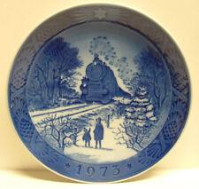 """1973 Royal Copenhagen """"Going Home For Christmas"""" 7.25"""" dia. Collector Plate Euc"""