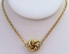 """Vintage KJL Knot Choker Necklace 15"""" Signed Kenneth Lane"""