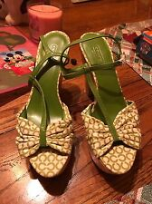Cute New Green Coach Wedges Size 8.5