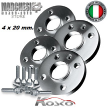 KIT 4 DISTANZIALI RUOTE 20 mm. FORD FIESTA IV-V-VI-VII DAL 1995-> CON COLONNETTE