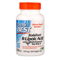 Doctor s Best Best Stabilized R-Lipoic Acid 100 mg 180 Veggie Caps Vegetarian
