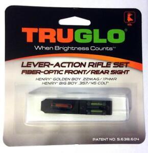 TruGlo Henry Golden Boy & Big Boy Fiber Optic Rifle Sight Set-TG114