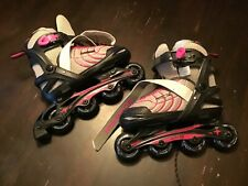 Schwinn Girls' Adjustable In-Line Skate - Black/Pink 1-4 *New Open Box Item*