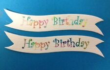BULK 25 MULTI COLOURED HAPPY BIRTHDAY BANNER CARD MAKING CRAFT EMBELLISHMENTS