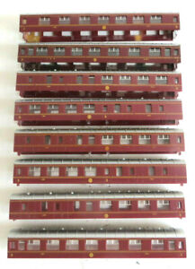 8 x Hornby LMS Stanier Compartment / Brake Coach bodyshell, spares with glazing