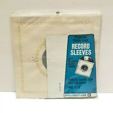 Vintage LP Vinyl Record Album Inner Sleeves 12 pk Plastic Lined Robins New