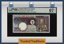 TT PK 106 1973 ANGOLA BANCO DE ANGOLA 100 ESCUDOS PMG 67 EPQ SUPERB NONE FINER