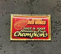 Detroit Red Wings 1997 & 1998 Stanley Cup Champions NHL Hockey Pin