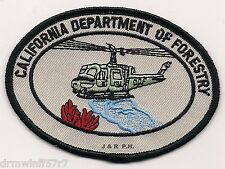 """Wildland - Cal. Dept. of Forestry - Helo Div., CA  (4"""" x 3"""" size) fire patch"""