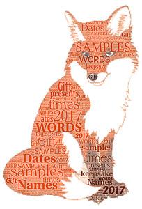 word art picture personalised gift present keepsake Thank you Nursery FOX