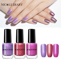 3Bottles NICOLE DIARY 6ml Holographics Nail Polish Peelable Nail Art Varnish Kit