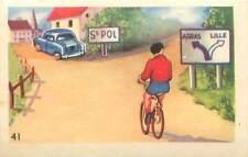 Code de la route vélo bicyclette panneaux de signalisation direction IMAGE CARD