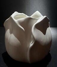 Stangl Art Pottery Tulip Shaped Cache Pot in Rare White Satin Glaze