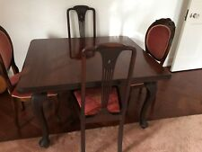 ...........REDUCED...........mohogany table with four chairs