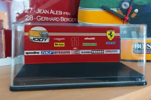 1/43 Custom Ferrari 312T4 Display Case & Sponsor Backdrop for F1 Minichamps -SGP