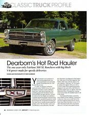 1967 FORD RANCHERO 390 ~ GREAT 3-PAGE ARTICLE AD