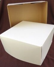 "50 Boxes White Cake Cookies Cupcakes Gift Transport Box 14 X 14 X 5""  - 2 Piece"