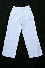 Fay Pants Cream White Loose Fit Linen Trousers Italy Auth IT 38 uk6 Very GOOD