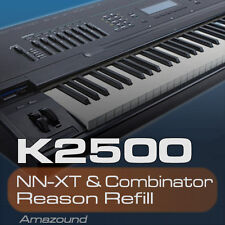 KURZWEIL K2500 REASON REFILL 282 PATCHES NNXT & COMB 3926 SAMPLES 24bit MAC PC