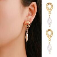 Frauen Kristallperlen Geometric Statement Ohrringe baumeln Geschenke