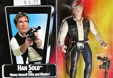 Han Solo w/ Blaster Unopened Star Wars POTF 2 '95 Action Fig Red Nr Mint Card