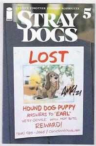 STRAY DOGS #5 COLLECTORS PARADISE EXCLUSIVE SIGNED BY TONY FLEECS W/ COA LTD 500