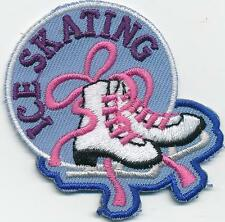 Boy Girl cub ICE SKATING PURPLE day visit Fun Patches Crests Badges GUIDES SCOUT