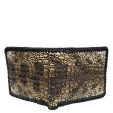 Double Sided Unique Genuine Alligator Crocodile Skin Leather Men's Bifold Wallet